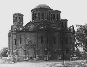 Внешний вид и интерьер Боголюбского собора в 1960-е гг.